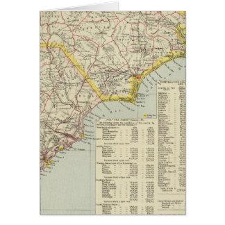 Carolina del Norte y Carolina del Sur 2 Tarjeta De Felicitación