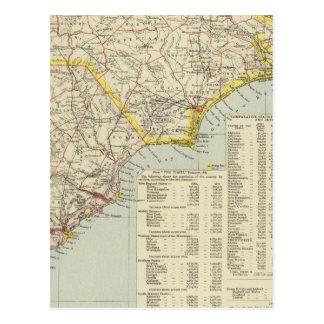 Carolina del Norte y Carolina del Sur 2 Tarjeta Postal