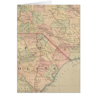 Carolina del Norte y Carolina del Sur Tarjeta De Felicitación