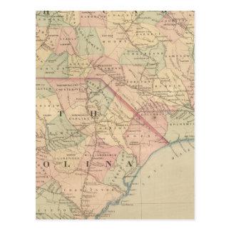 Carolina del Norte y Carolina del Sur Tarjeta Postal