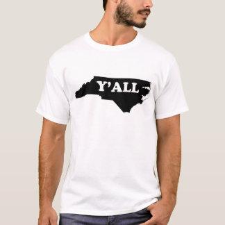 Carolina del Norte Yall Playera