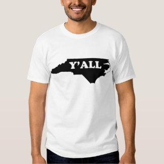 Carolina del Norte Yall Remeras