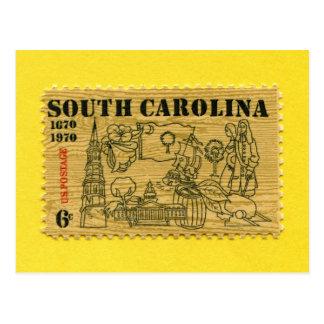 Carolina del Sur 1670-1970 conmemorativo Tarjeta Postal