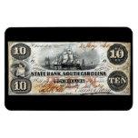 Carolina del Sur 1860 nota de diez dólares Iman Flexible