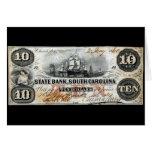 Carolina del Sur 1860 nota de diez dólares Felicitaciones