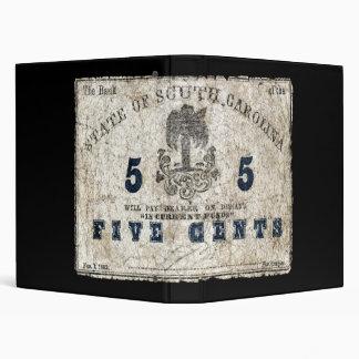 "Carolina del Sur 1863 nota de 5 centavos Carpeta 1"""