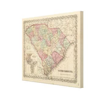 Carolina del Sur 5 Impresiones En Lona Estiradas
