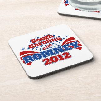 Carolina del Sur con Romney 2012 Posavasos De Bebida
