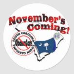 ¡Carolina del Sur el venir anti de ObamaCare - de Etiquetas Redondas