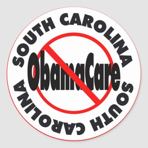 ¡Carolina del Sur el venir anti de ObamaCare - de Pegatina Redonda