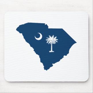 Carolina del Sur en azul y blanco Alfombrillas De Ratones