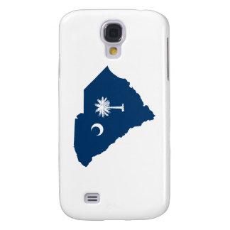 Carolina del Sur en azul y blanco Funda Para Galaxy S4