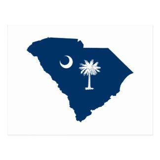 Carolina del Sur en azul y blanco Tarjetas Postales
