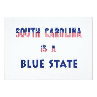 """Carolina del Sur es un estado azul Invitación 5"""" X 7"""""""