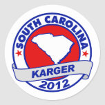 Carolina del Sur Fred Karger Pegatina Redonda