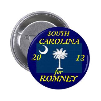 Carolina del Sur para Romney 2012 Pin Redondo De 2 Pulgadas