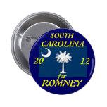 Carolina del Sur para Romney 2012 Pins