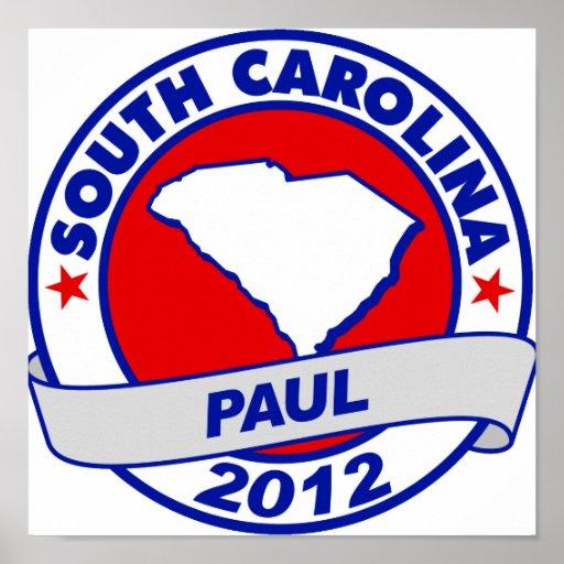 Carolina del Sur Ron Paul Póster