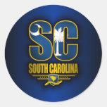 Carolina del Sur (SC) Pegatinas Redondas