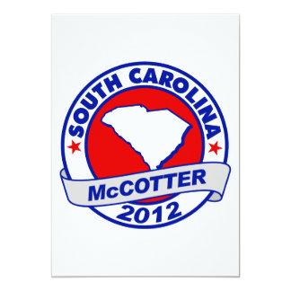 """Carolina del Sur Thad McCotter Invitación 5"""" X 7"""""""