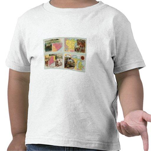 Carolina del Sur, Wisconsin, Maine, Michigan Camisetas