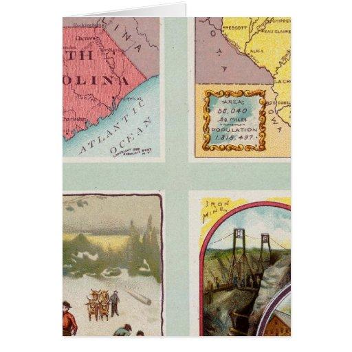 Carolina del Sur, Wisconsin, Maine, Michigan Tarjeta De Felicitación