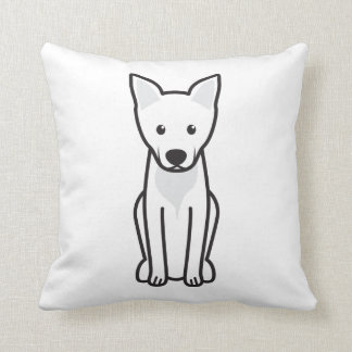 Carolina Dog Cartoon Throw Pillow