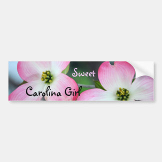 Carolina Girl Pink Dogwood Bumper Sticker