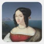 Carolina Grossi, la primera esposa del artista Calcomanía Cuadradas Personalizada