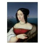 Carolina Grossi, la primera esposa del artista Tarjetas Postales