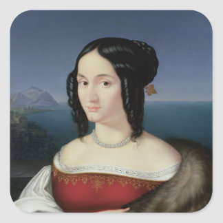 Carolina Grossi, the first Wife of the Artist Square Sticker