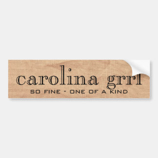 carolina grrl canvass sticker