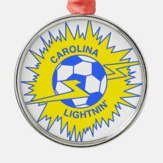 Carolina Lightnin Round Metal Christmas Ornament
