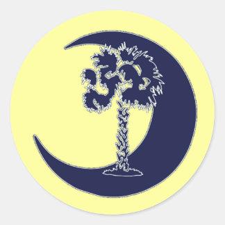 Carolina Palmetto & Crescent Stickers