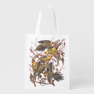 Carolina Parakeet Grocery Bag