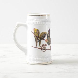 Carolina Parakeet Trio Stein Coffee Mugs