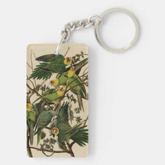 Carolina Parrot Double-Sided Rectangular Acrylic Keychain