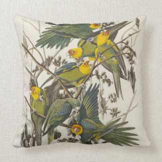 Carolina Parrot - John James Audubon (1827-1838) Throw Pillow