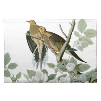 Carolina Pigeon John James Audubon Birds Cloth Placemat