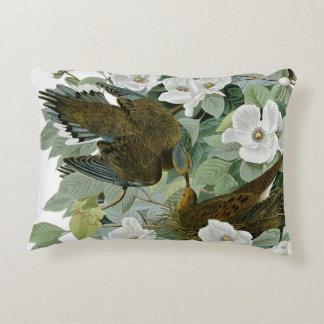 Carolina Pigeon John James Audubon Birds Decorative Pillow
