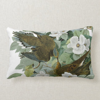 Carolina Pigeon John James Audubon Birds Lumbar Pillow