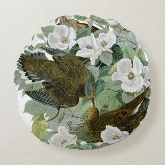 Carolina Pigeon John James Audubon Birds Round Pillow