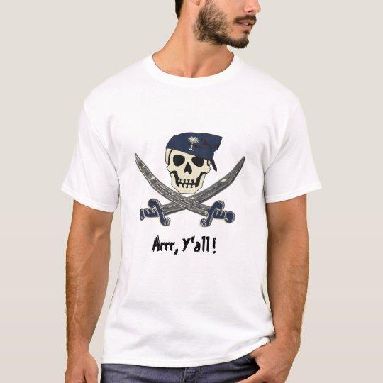 Carolina Pirate Talk Jolly Roger T-Shirt