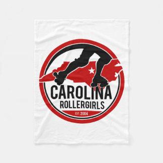 Carolina Rollergirls fleece blanket