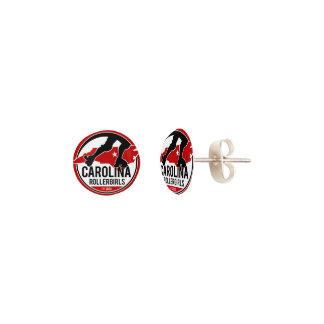 Carolina Rollergirls stud earrings
