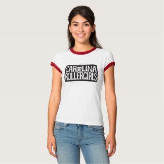 Carolina Rollergirls women's ringer tee