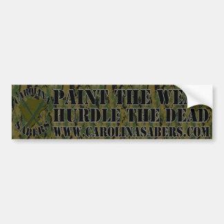 Carolina Sabers BumberSticker 1 Bumper Sticker