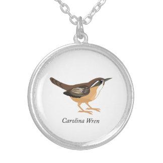 Carolina Wren Silver Plated Necklace