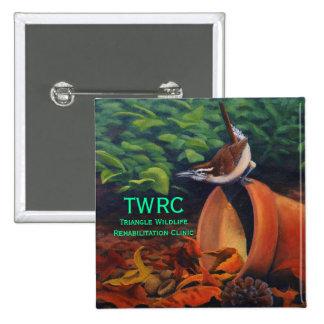 Carolina Wren, Triangle Wildlife Rehabilitation... Pinback Button