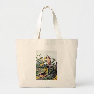 Carolina Wrens and Yellow Jessamine Large Tote Bag